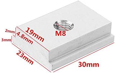 Nuss Holzbearbeitungswerkzeug T-Nut T-Schiene Befestigung Teile Zubehör M8