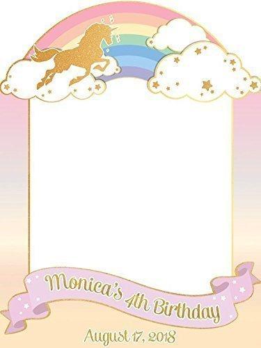 Amazon.com: Unicorn Rainbow, Birthday Party, Photo Booth, Frame Prop ...