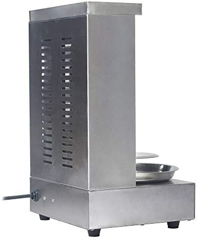 Li Bai Doner Kebab Shawarma Machine Vertical Electric Grill Commercial Rotisserie Oven Meat Broiler with 2 Burner Stainless Steel 110V For Home Restaurant