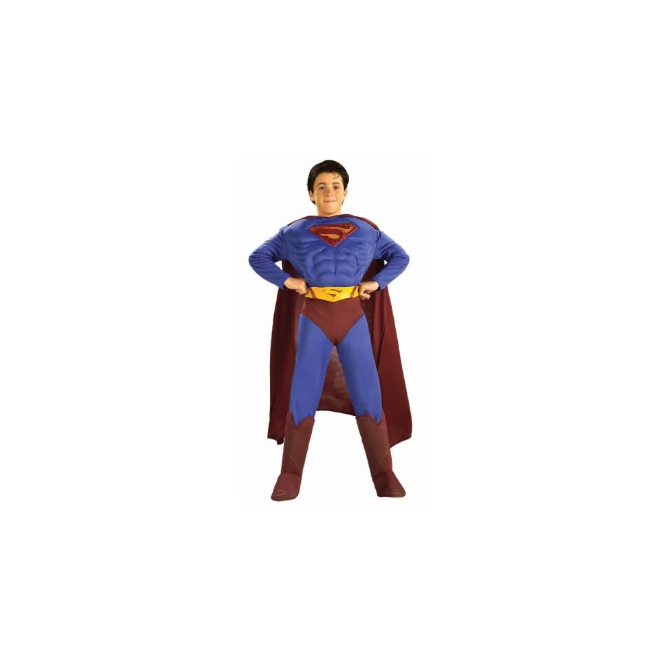 Lets Party By Rubies Costumes Superman Returns Deluxe Muscle Chest Child Costume / Red/Blue   Size Medium  Other Products