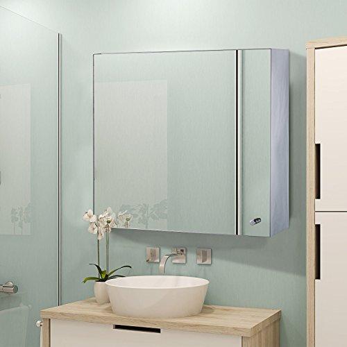 Generic NV_1008004575-DWX-US28 <8&45751> Mounted ShelfSaver Sto Saver Storage Toilet Cabinet Mirror Organizer Wall-Mounted Bathroom Space Shelf Toilet Cabine by Generic