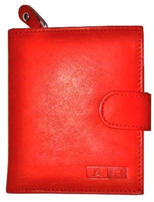 Ar - Cartera monedero de piel para mujer, color rojo: Amazon ...