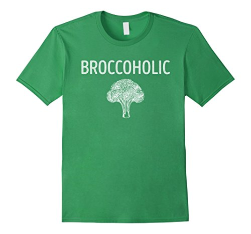 Mens Broccoholic Vegan Broccoli Lover TShirt 3XL Grass