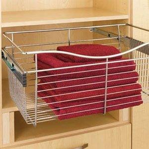 Rev-A-Shelf - CB-301611CR-1 - Chrome Closet Pull-Out Basket (Cb Baskets Series)