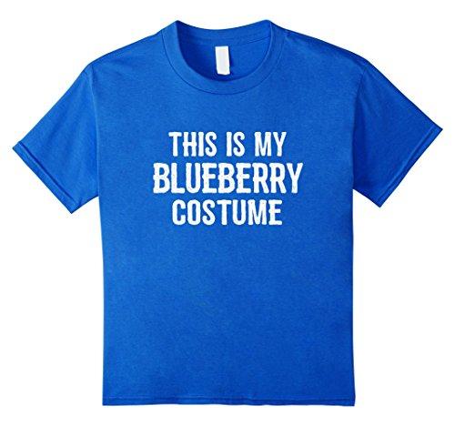 [Kids Blueberry Costume Shirt - Funny Easy Halloween Costumes 8 Royal Blue] (Blueberry Girl Costumes)