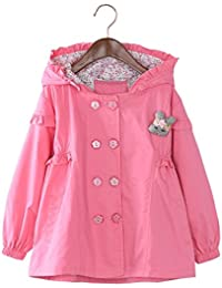 Girls Trench Coat Windbreaker Double Breasted Jacket Spring Outwear