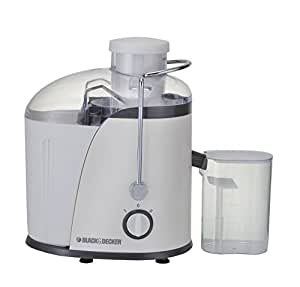 Black+Decker JE400-B5 Juicer Extractor with Wide Chute, 400W - White