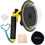 """Gurmoir Telesin 6"""" Dome Lens Dome Port For Gopro Hero 7 Black/Hero 6/Hero 5/Hero (2018) Action Cameras Snorkeling Underwater Diving Dome with Waterproof Housing Case Trigger and Soft Rubber Floating"""
