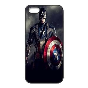 Custom Design ZH-5 Movie Captain America Black Print Hard Shell Case for iPhone 5S