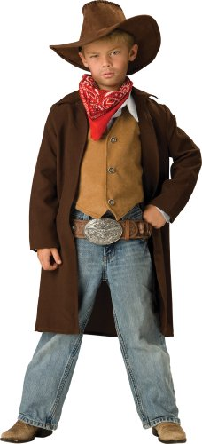 InCharacter Costumes, LLC Big Boys' Rawhide Renegade Duster Jacket Set