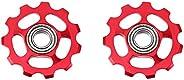 2pcs Bike Wheel Aluminum Alloy Rear Derailleur Wheel Fit for Bicycle Bike