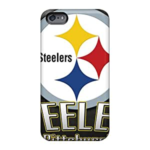 MarcClements Apple Iphone 6 Plus Bumper Hard Phone Case Customized Trendy Pittsburgh Steelers Skin [Dlp7828tTss]