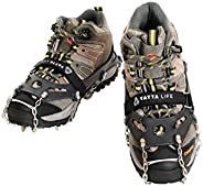Yatta Life Trail Spikes Crampons for Trail Running, Hiking, Ice Fishing and Climbing