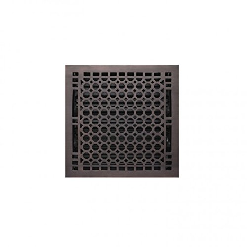 Naiture 10'' x 12'' Brass Floor Register Honeycomb Style In Oil Rubbed Bronze Finish