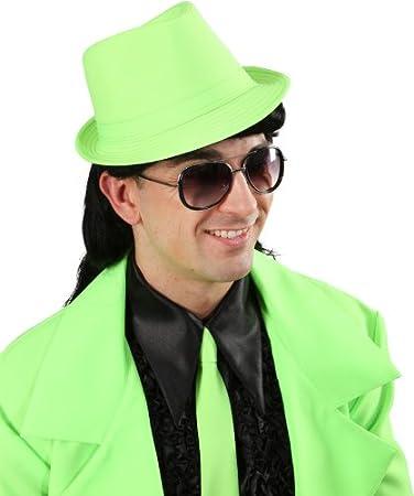 Discohut Neonfarben Hut Zu Party Outfit Karneval Fasching Neongrun
