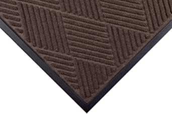 "Notrax 168 Opus Entrance Mat, for Heavy Traffic Areas, 2' Width x 3' Length x 3/8"" Thickness, Brown"