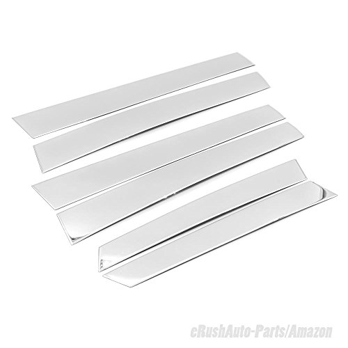 2009 Chrome Pillar Posts (eRushAutoparts Ultra Chrome Stainless Steel Pillar Posts Accent Overlays For 2007-2011 Hnoda CRV 6pcs)
