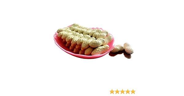 50 Pcs Artificial Peanuts Simulation Nuts Fake Food Home Decorations Plastic Dec