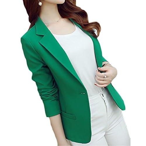 Cheap Fulok Womens One Button Office Work Slim Suit Coat Blazer Jaclet supplier