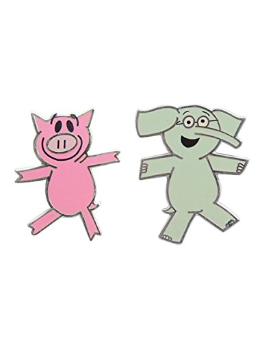 (Out of Print Elephant and Piggie Enamel Pin Set)