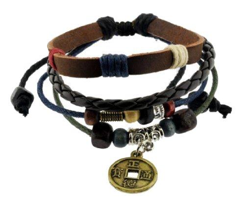 Chinese Ancient Coin Zen Bracelet, 338