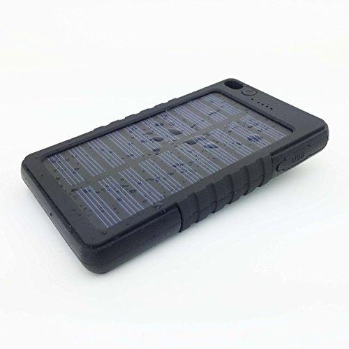 Siker 8000MAH solar cargador de batera elctrica para el iPhone, iPad Aire mini, iPod, Samsung, Android telfonos inteligentes y tabletas(BLACK)