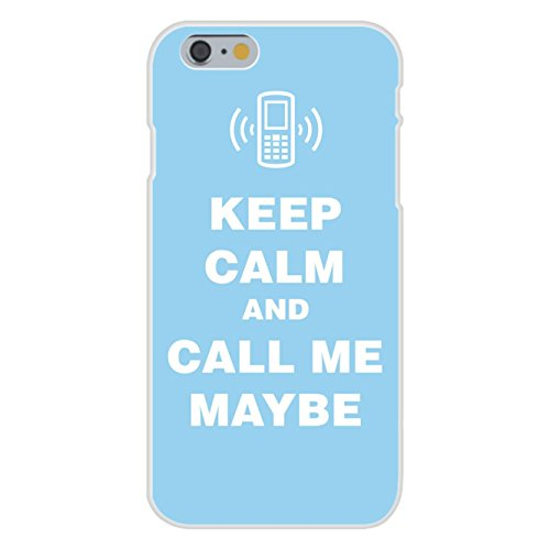 Apple iPhone 6+ (Plus) Custom Case White Plastic Snap On - Keep Calm and Call Me Maybe w/ Cell Phone - Rae Call Mobile