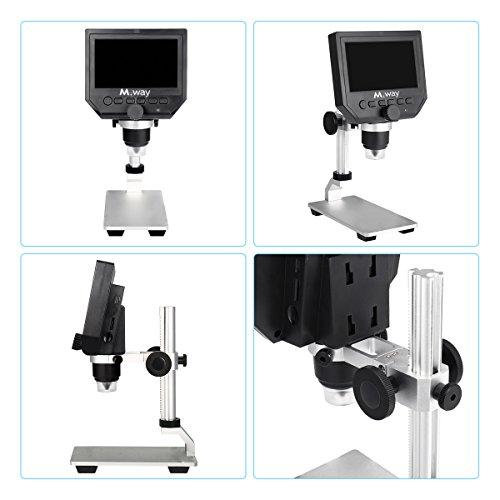 MWAY Portable Digital Microscope 3 6MP 600x Sensor Zoom LCD