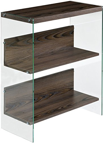 OneSpace 50-JN19BK3WN Escher Skye 3-Tier Bookshelf, Walnut
