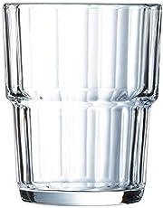 Arcoroc ARC 60026 Norvege dricksglas, vattenglas, juiceglas, 160 ml, glas, transparent, 6 stycken