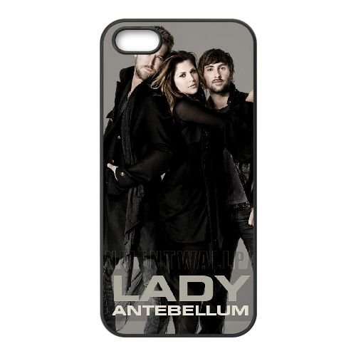 Lady Antebellum 002 coque iPhone 5 5S cellulaire cas coque de téléphone cas téléphone cellulaire noir couvercle EOKXLLNCD25402