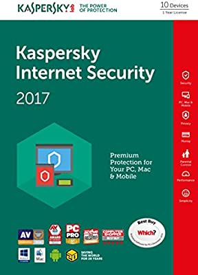 Kaspersky Internet Security 2017 | 10 Devices | 1 Year | PC/Mac/Android |  Download
