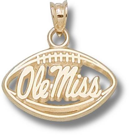 Foot Pendant 14kt Gold Jewelry (Mississippi (Ole Miss) Rebels Pierced