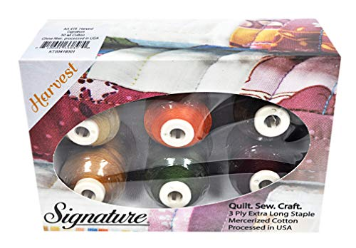 Cotton Mini King Spools - Signature 50 Cotton Mini King 6 Spool Gift Pack - Harvest