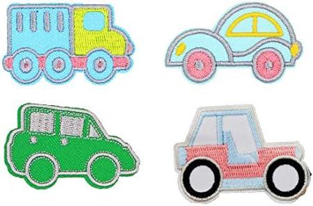 刺繍ワッペン 自動車/くるま アイロン接着 保育園 幼稚園 小学校【Clip wan】