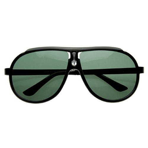 zeroUV - Large 80s Style Euro Sport Retro Aviator Sunglasses - Sunglasses Euro 1