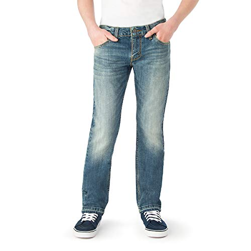 Signature by Levi Strauss & Co. Gold Label Big Boys' Slim Straight Fit Jeans, Shark Fin, 16