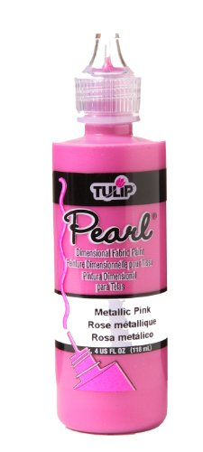 Tulip 26527 Dimensional Fabric Paint 4oz Pearl Metallic Pink