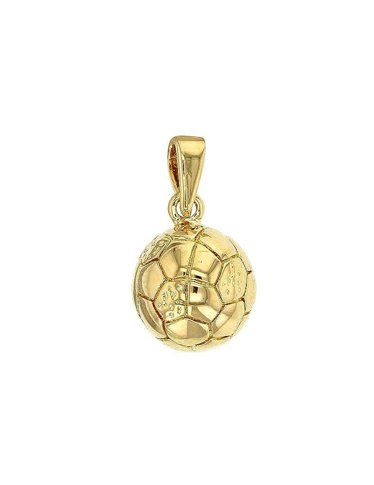 Colgante de balón de fútbol dorado: Amazon.es: Joyería