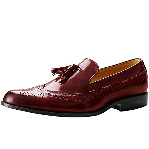 Itailor Heren Kwast Brogue Loafers Kastanjebruin