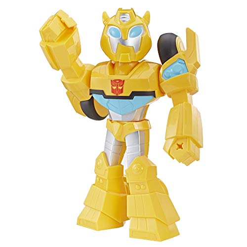 "Playskool Heroes Transformers Rescue Bots Academy Mega Mighties Bumblebee Collectible 10"" Robot Action Figure, Toys for Kids Ages 3 & Up from Playskool Heroes"