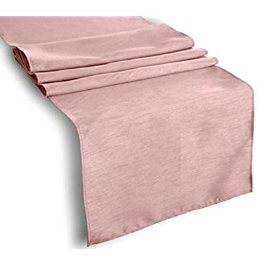 Creative 13 x 72  Classic Solid Table Top Runner - Rose
