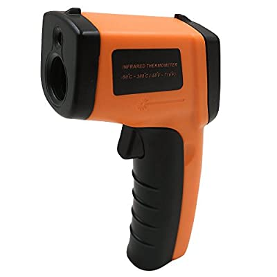 NATAMO Instand Read Digital Non-Contact Infrared Thermometer,Handheld Temperature Gun with IR Laser Targeting,-50 ~ 380?/-58 ~ 716? Measurement for Cook and Automotive ,AAA Battery