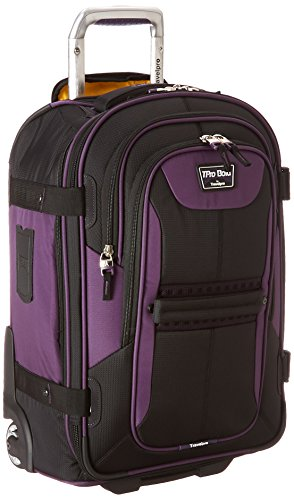 Travelpro Bold 22' Expandable Carry-on Rollaboard Luggage With Easy-access Tablet Pocket, Purple/Black