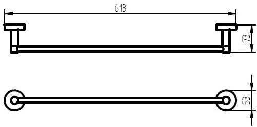 Cromo 5.3x61.3x7.3 cm Gris Haceka Kosmos Chrome Toallero
