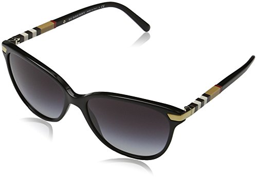 Burberry 30018G Black 4216 Cats Eyes Sunglasses Lens Category 3 Size 57mm by BURBERRY