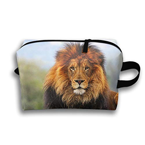 Prairie Lion Cosmetic Bag Portable Ladies Travel Makeup Bag ()
