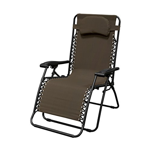 Caravan Sports Infinity Oversized Zero Gravity Chair, Brown
