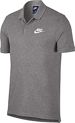 NIKE M NSW CE Polo Matchup Pq Polo Shirt, Hombre, dk Grey Heather ...