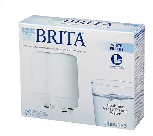 Brita On Tap Faucet Water Filter System Replacement Filters 2.0 ea(pack of 2) by Filter